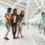 Hipster Females In Shopping Mall Royalty Free Stock Image