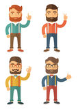 Hipster. Flat Vector Illustration. Royalty Free Stock Photo