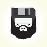 Hipster floppy disk vector illustration Royalty Free Stock Photo