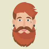 Hipster freak icon. Stock Images