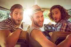 Hipster friends on road trip Stock Image