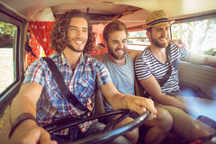 Hipster friends on road trip Stock Photography