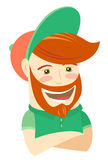 Hipster funny bearded man. Flat style Royalty Free Stock Photography
