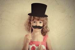 Hipster funny kid Royalty Free Stock Photos