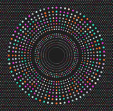 In hipster gekleurde cirkel, helder filosofisch symbool Stock Foto