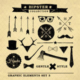 Hipster gentle style graphic collection Royalty Free Stock Photos