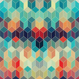 Hipster geometric background made of cubes.Retro hipster color m. Osaic background. Square composition with geometric shapes.Geometric hipster retro background Royalty Free Stock Image