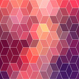 Hipster geometric background made of cubes.Retro hipster color m Royalty Free Stock Photo