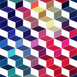 Hipster geometric background made of cubes.Retro hipster color m Stock Photos