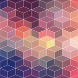 Hipster geometric background made of cubes.Retro hipster color m. Osaic background. Square composition with geometric shapes.Geometric hipster retro background Stock Photos