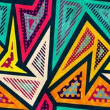 Hipster geometric seamless pattern Stock Images