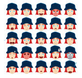 Hipster Ginger Emoticons Vector Illustration Royaltyfria Foton