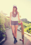 Hipster girl Stock Photography