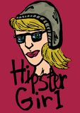 Hipster girl icon Stock Images