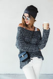 Hipster girl outfit Royalty Free Stock Photo