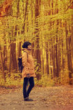 Hipster girl in a park Royalty Free Stock Photo