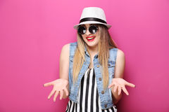 Hipster girl Royalty Free Stock Image