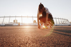 Hipster girl riding skate board Royalty Free Stock Photo