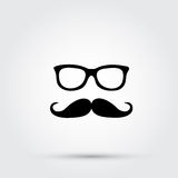 Hipster glasses and mustache Royalty Free Stock Photography