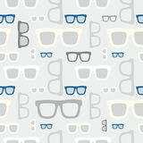 Hipster glasses seamless pattern Royalty Free Stock Photo