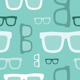 Hipster glasses seamless pattern Royalty Free Stock Photography