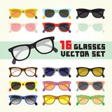 Hipster glasses  set Royalty Free Stock Photos