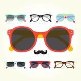 Hipster glasses set Stock Image