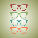 Hipster glasses Stock Images