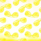 Hipster glasses. Vector seamless pattern. Royalty Free Stock Photos