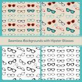 Hipster Glasses Vector Seamless Patterns vector illustration