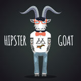 Hipster goat vector Royalty Free Stock Image