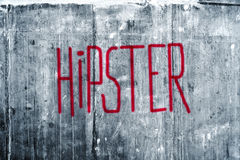 Hipster Graffiti on Grunge Concrete Wall Royalty Free Stock Photos