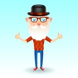 Hipster grandpa Royalty Free Stock Photography