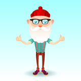 Hipster grandpa. Stock Photo