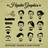 Hipster graphic set 2 vector illustration