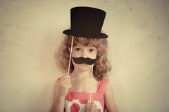 Hipster grappig jong geitje Royalty-vrije Stock Foto's