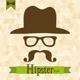 Hipster greeting card, vector Royalty Free Stock Photo