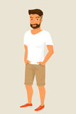 Hipster guy wearing stylish haircut Royalty Free Stock Image