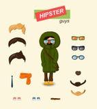 Hipster guys fashion set Stock Photo