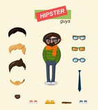 Hipster guys fashion set Stock Images