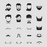 Hipster hair and beards mustache