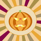 Hipster halloween background Royalty Free Stock Photos