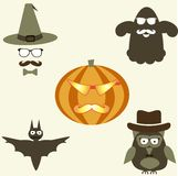 Hipster  halloween icons Royalty Free Stock Images
