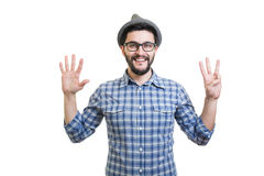 Hipster in hat Stock Photos