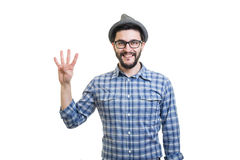 Hipster in hat Royalty Free Stock Photo