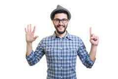 Hipster in hat Royalty Free Stock Images