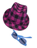 Hipster Hat and Sunglasses Royalty Free Stock Image