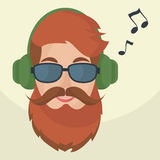 Hipster headphones icon. Royalty Free Stock Photo