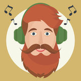 Hipster headphones icon. Stock Photography