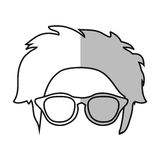 hipster hear and glasses design. Hear and glasses icon. Hipster style vintage retro fashion and culture theme.  design. Vector illustration Royalty Free Stock Photo